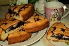 Пирог с черничным вареньем