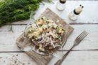 Салат с картофелем и копченой скумбрией