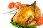 Курица, фаршированная грибами и рисом