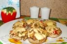 Постные фаршированные грибы