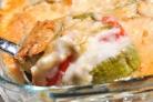 Овощи под соусом Бешамель с сыром