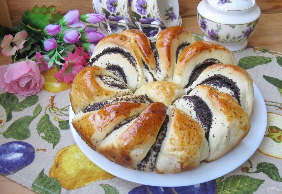 Пирог с маком Цветок картинка