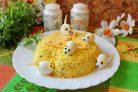 "Салат ""Мышка"" с сыром"