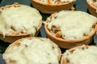Тарталетки с сыром и грибами