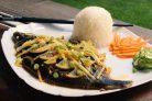 Камбала по-китайски на пару