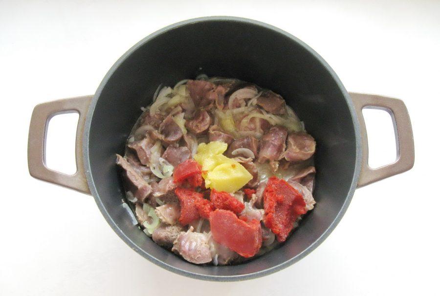 желудки индейки рецепты с фото представлены