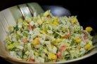 Крабовый салат с огурцом без риса