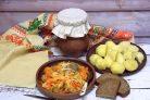 Салат Кубанский с огурцами и капустой