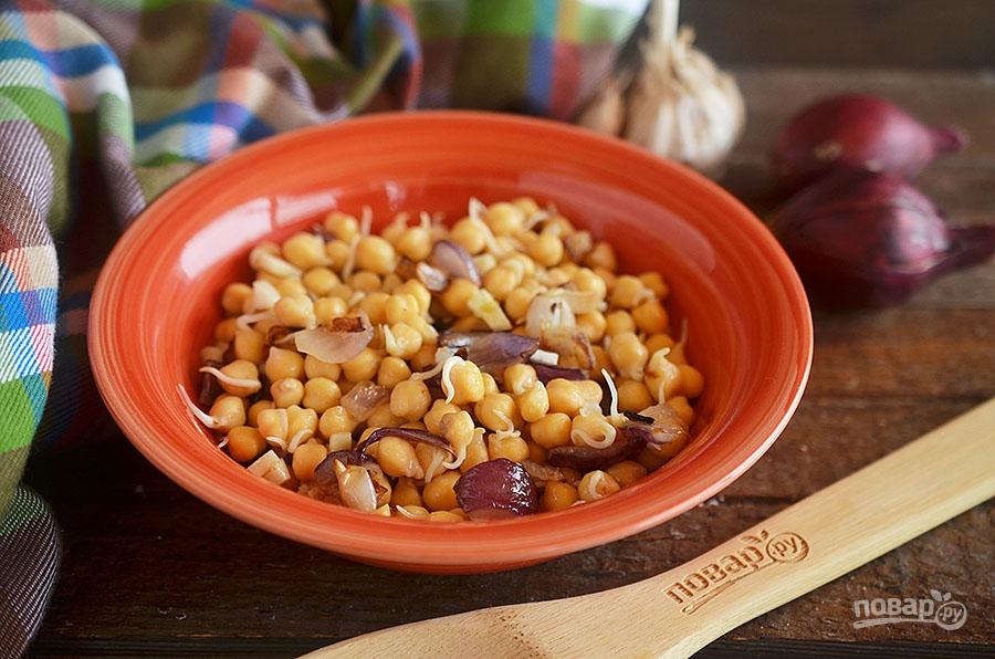 Салат из пророщенных бобов или Тиргум-ча