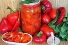 Салат из сладкого перца и помидоров на зиму