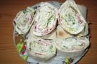 Рулеты из лаваша с плавленым сыром