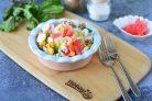 Салат с имбирем и крабовыми палочками