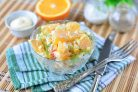 Салат с кукурузой и апельсином