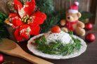 Салат с рыбой и грибами Поморский
