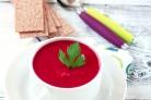 Суп-пюре со свиным языком и свеклой