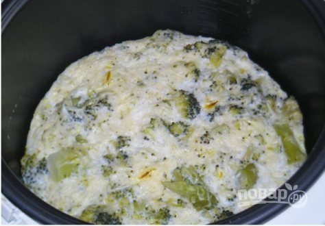 брокколи в мультиварке с сыром