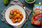 Картошка тушеная с луком и кетчупом