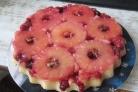 Перевернутый пирог ананасовый с клюквой