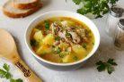 Суп из кролика с гречкой