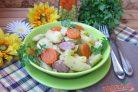Картофель с колбасками в духовке