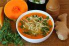 Суп из тыквы с имбирем