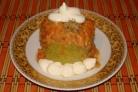 Кабачки с фаршем и рисом