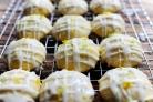 Цитрусовое печенье в глазури