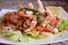 Салаты с рыбой и морепродуктами