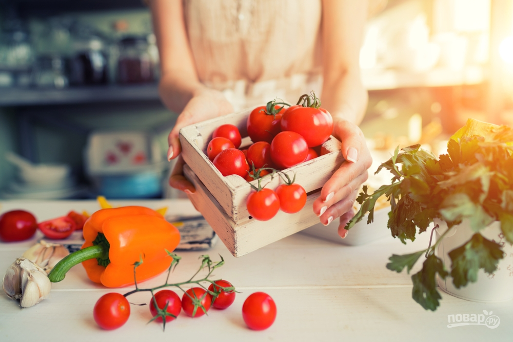 Овощи храните в коробках и корзинках