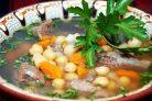 Суп с мясом и нутом