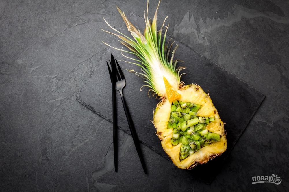 Десерт из ананаса на Новый год