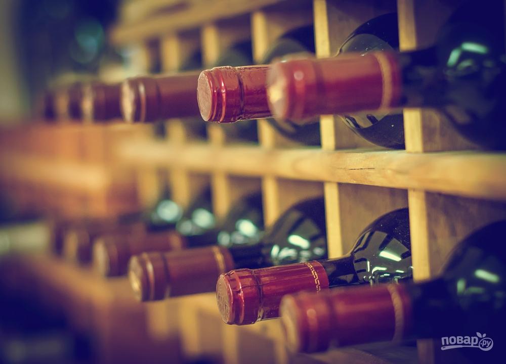 Вино в бутылках