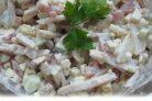 Салат из колбасного сыра