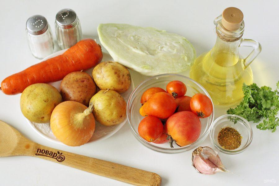 Ингредиенты для щей без мяса