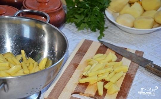 Жульен со свининой и картошкой