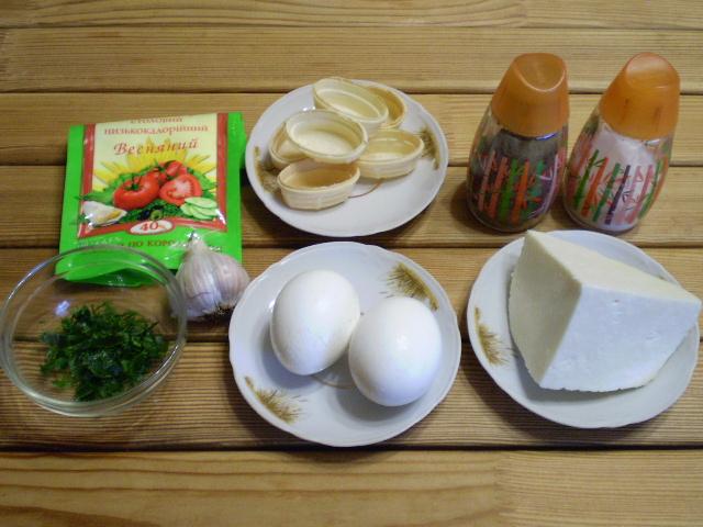 Закуска с сыром и чесноком