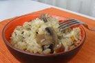 Плов с грибами и мясом