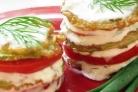Кабачки в кляре с помидорами