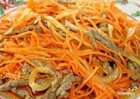 Просмотр фотографий блюда Хе из рыбы с морковью.