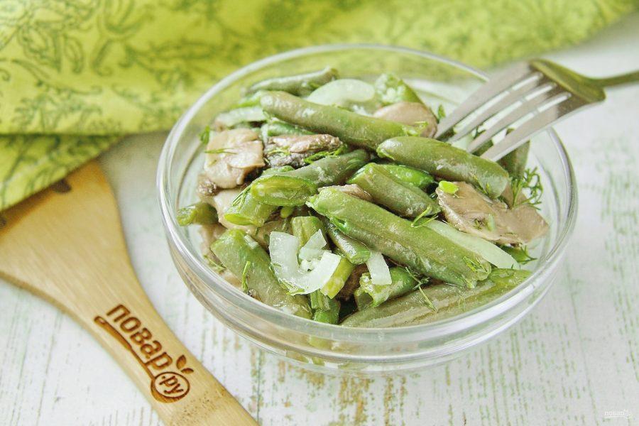 """Салат с фасолью и грибами """"Крымский"""""""