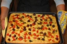 Фокачча с розмарином и фокачча с оливками и томатами