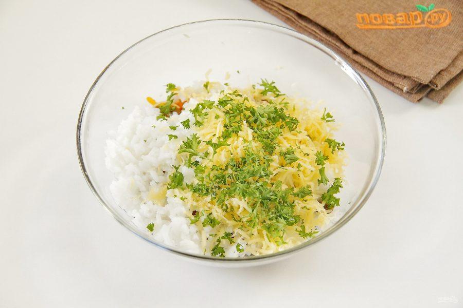 Кальмары, фаршированные рисом с грибами