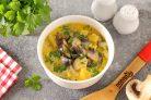 Грибной суп с баклажанами на молоке