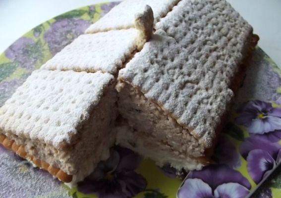 как приготовить торт минутка с печеньем