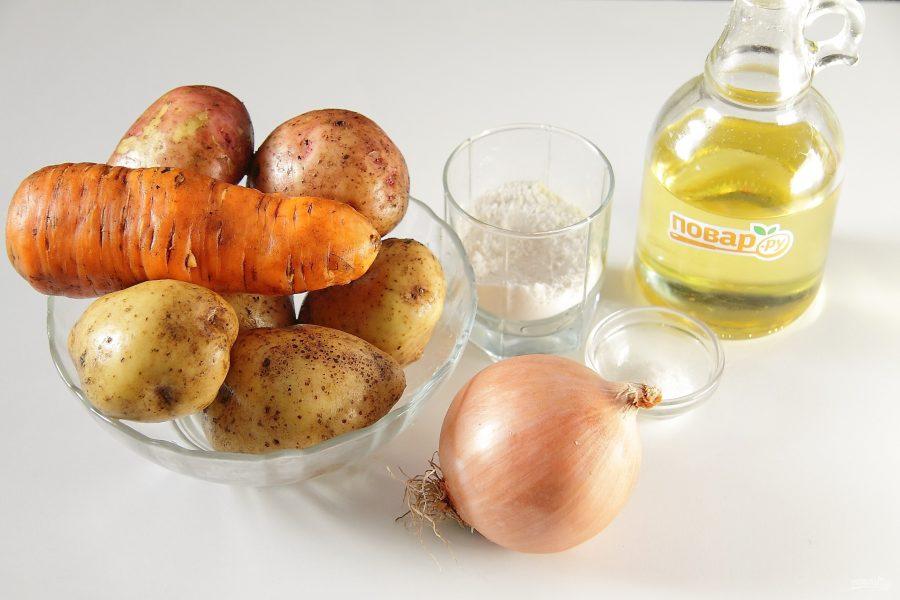 Зразы картофельные с морковью