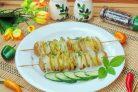 Картофель на шпажках в духовке