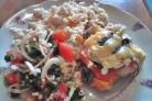 Пангасиус под овощами