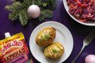 Картошка-гармошка с чесночным маринадом Махеев и сыром