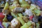 Курица с баклажанами и картошкой