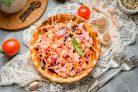 Салат со свеклой и колбасой